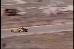 High angle view car race stock footage