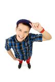 High angle view of casual guy Royalty Free Stock Photo