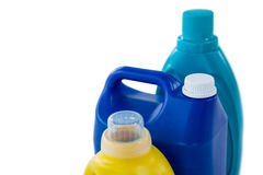 High angle view of chemical bottles Stock Photos