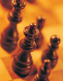 High angle view of chess pieces Stock Photo