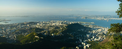 Distant view of Rio de Janeiro Royalty Free Stock Images