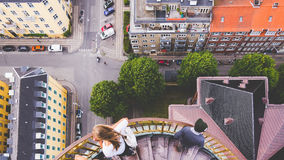 High Angle View of City Street Royalty Free Stock Photography