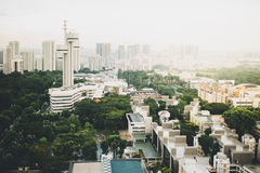 High Angle View of Cityscape Against Sky Stock Image
