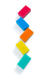 High angle view of colorful sponges Stock Photos