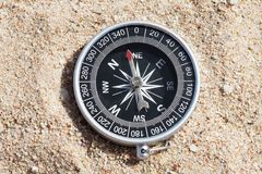 High angle view of compass Stock Image