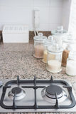 High angle view of cooker Stock Images