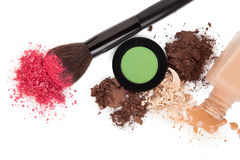 High angle view of cosmetic products Royalty Free Stock Photo