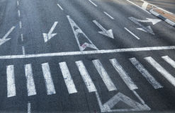 Intersection Zebra Crossing Royalty Free Stock Photography