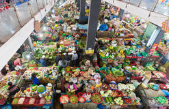 High angle view of Dalat city market, Vietnam Stock Images