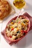 High angle view of a delicious Quinoa recipe Royalty Free Stock Photos