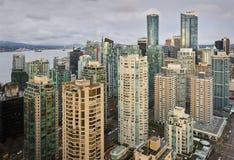 High Angle View Downtown Vancouver Stock Photo
