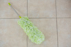 High angle view of duster on floor Stock Photography