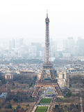 High angle view of Eiffel tower Royalty Free Stock Photos