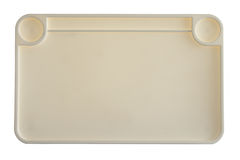 High Angle View of Empty Plastic Tray Stock Image