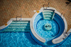 High angle View of a Empty Pool Stock Images