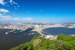 High angle view of Enoshima and Shonan Stock Photos