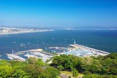 High angle view of Enoshima and Shonan Stock Images