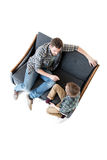 High angle view of father and son quarreling Royalty Free Stock Photos