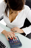 High angle view of female accountant Stock Photography