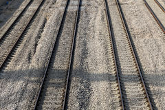 Railroad Highway Stock Photography