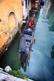 High angle view of gondola Stock Photos