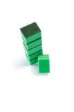 High angle view of green sponge Stock Image