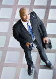 High angle view of happy African businessman Stock Photos