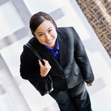 High angle view of happy businesswoman Stock Images