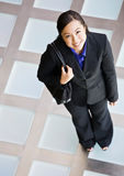 High angle view of happy businesswoman Stock Photos