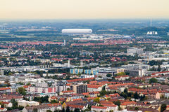 High angle view of hazy German neighborhood Royalty Free Stock Photography
