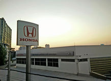 High Angle View Honda service station Stock Photography