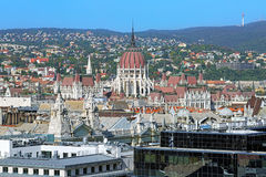 High angle view of Hungarian Parliament Building in Budapest Stock Images