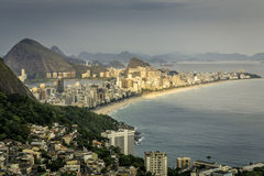 High angle view of Ipanema Beach in Rio de Janeiro Royalty Free Stock Images