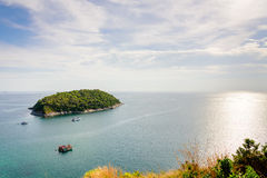 High angle view island and Andaman sea Stock Images