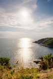 High angle view island and sea at Laem Phromthep scenic point Royalty Free Stock Photography