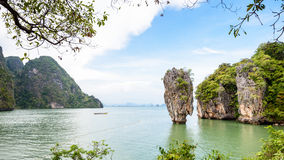 High angle view Khao Tapu island Royalty Free Stock Photos