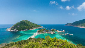 High Angle View of Koh Nangyuan in Thailand Royalty Free Stock Photo