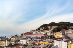 High angle view of Lisbon city, Portugal.  stock photography