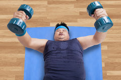High angle view of man workout Royalty Free Stock Image