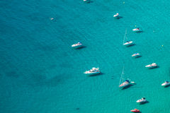 High angle view of the marina in Calpe, Alicante, Spain. High angle view of the marina in Calpe, Alicante Stock Images