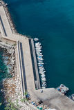 High angle view of the marina in Calpe, Alicante, Spain Stock Photography