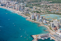 High angle view of the marina in Calpe, Alicante, Spain Royalty Free Stock Photography