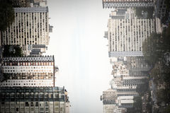 High angle view of modern buildings city Stock Image