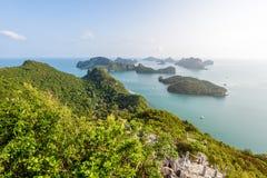 High angle view Mu Ko Ang Thong Stock Photo
