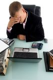 High angle view of a nervous businessman Stock Photography