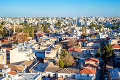 High Angle View Of Nicosia cityscape. Cyprus Royalty Free Stock Photo