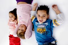 High Angle View Of Little Children Royalty Free Stock Photography