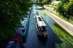 Boats on Regent's Canal, London Stock Photography