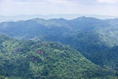 High angle view over tropical mountains from sud pandin cliff viewpoint  at pa hin ngam national park in thai Stock Photos