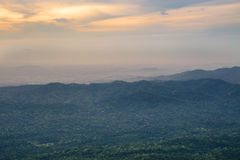 High angle view over tropical mountains from sud pandin cliff viewpoint Royalty Free Stock Images